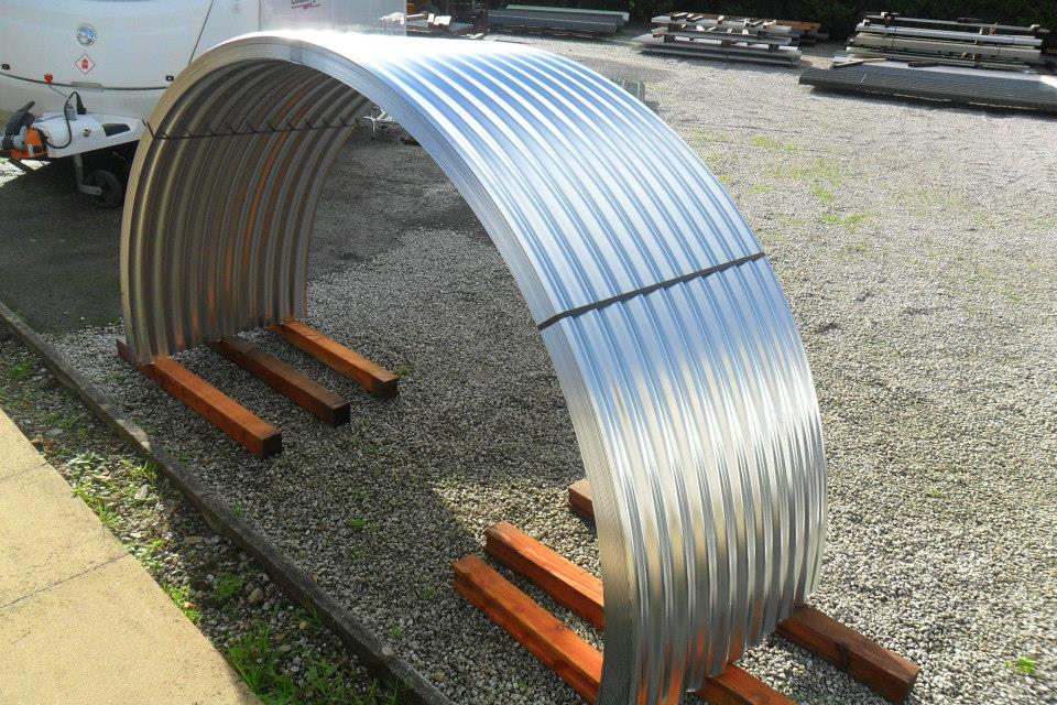 Corrugated Galvanised Curved Sheets